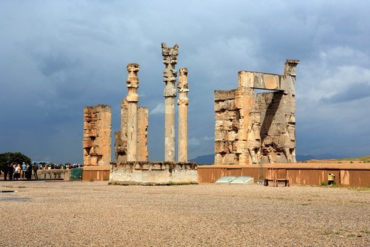 Palace of Akhemenid kings 510-450 BC, UNESCO World Heritage Site, Persepolis, province Fars, Iran : Stock Photo
