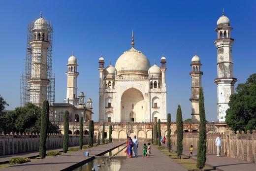 Bibi Ka Maqbara Poor´s Taj mausoleum, 1670s, Aurangabad, India : Stock Photo