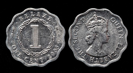 Stock Photo: 1566-912098 1 cent coin, Belize, 2005