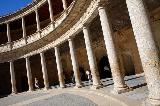 Stock Photo: 1566-912779 Charles V´s palace, Alhambra  Granada, Andalusia  Spain