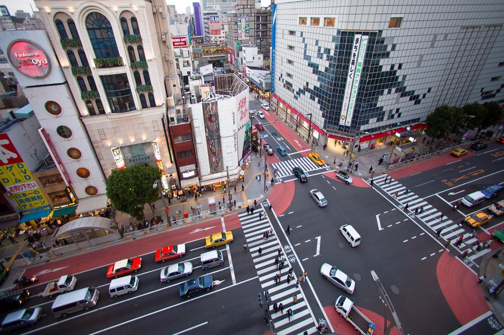 Japan-Tokyo City-Ueno District-Okachimachi Area : Stock Photo