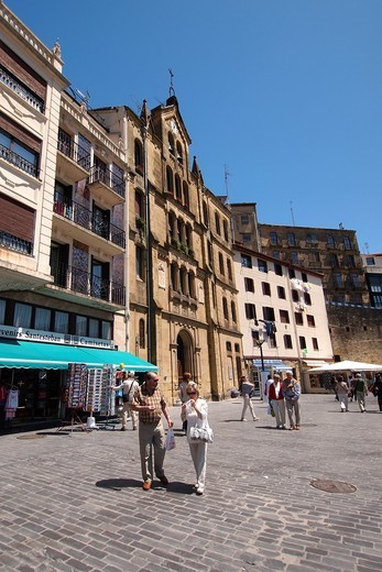 Old Town, San Sebastián, Donostia, Guipuzcoa, Basque Country, Spain : Stock Photo