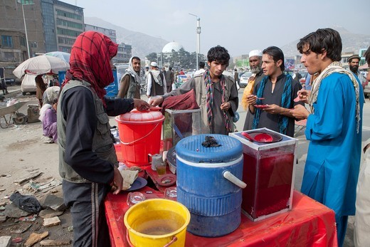 Stock Photo: 1566-913805 Bazaar in downtown kabul, Afghanistan