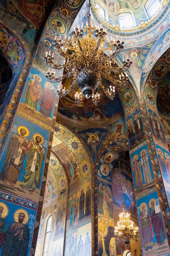Stock Photo: 1566-914022 Russia, Saint Petersburg, Center, Church of the Saviour of Spilled Blood, interior glass mosaics