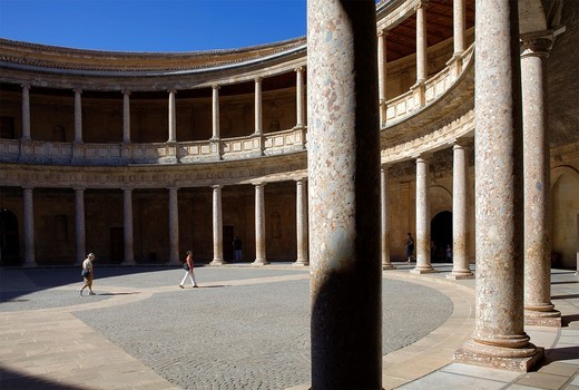 Charles V´s palace, Alhambra  Granada, Andalusia  Spain : Stock Photo