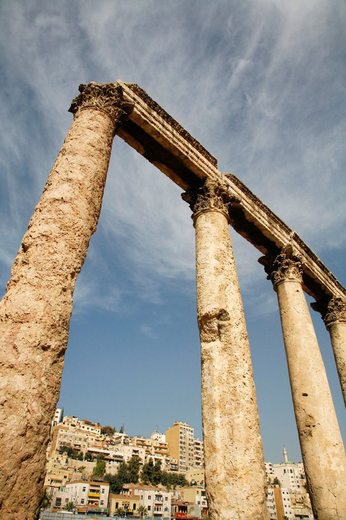 Stock Photo: 1566-915167 The Culumns of the Forum by the Roman Theatre, Amman, Jordan