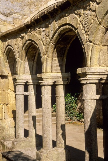 Cloister in Franciscan convent  St  Emilion  Aquitaine  France : Stock Photo