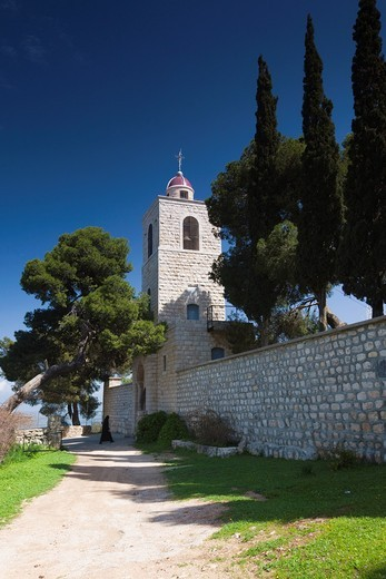Stock Photo: 1566-916274 Israel, The Galilee, Mount Tabor, site of the biblical transfiguration, Greek Orthodox Convent