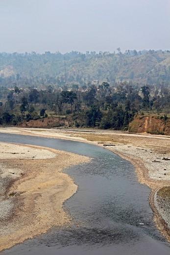 Debang River Bed, Arunachal Pradesh, India : Stock Photo
