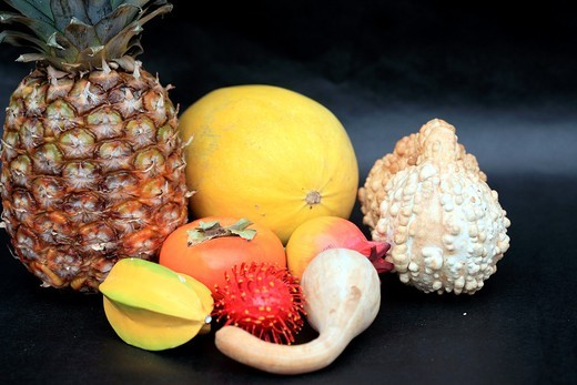 Exotic fruit still life : Stock Photo