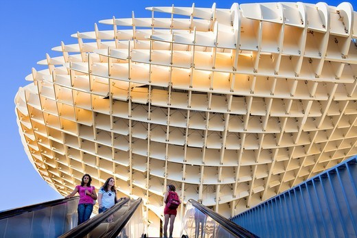 Stock Photo: 1566-917779 Metropol Parasol,in Plaza de la Encarnación,Sevilla,Andalucía,Spain