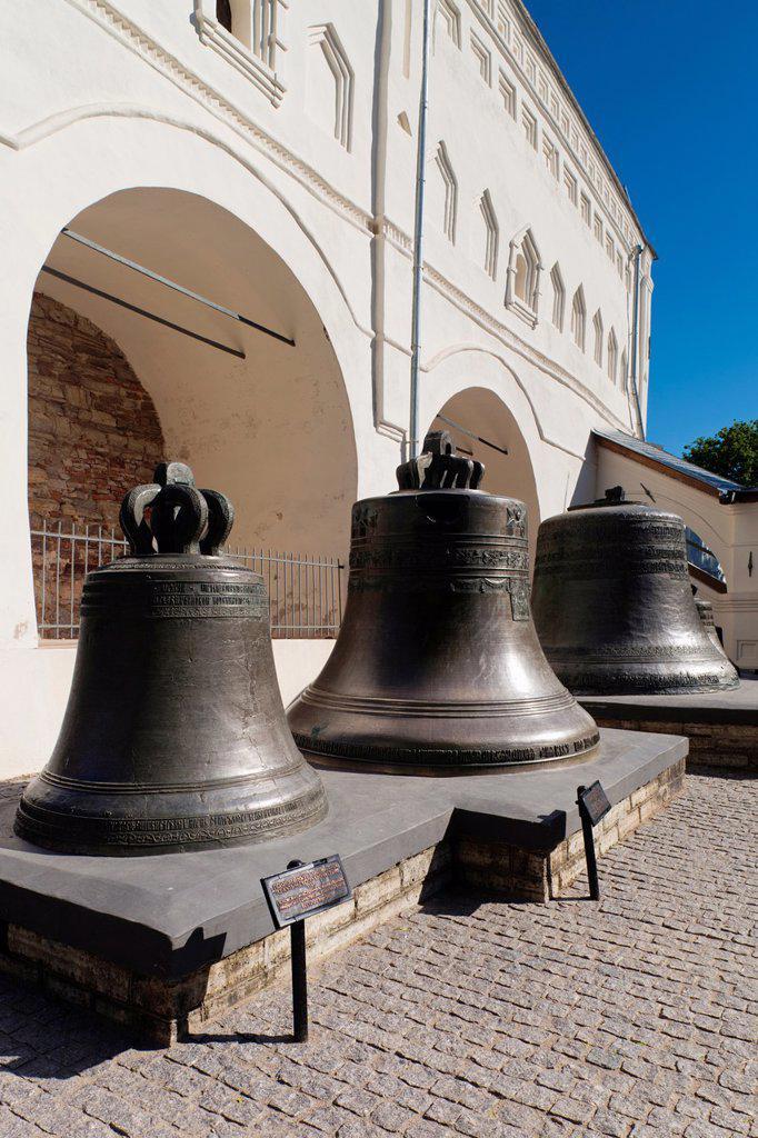 Russia, Novgorod Oblast, Veliky Novgorod, Novgorod Kremlin, Saint Sofia Cathedral, bellfry : Stock Photo
