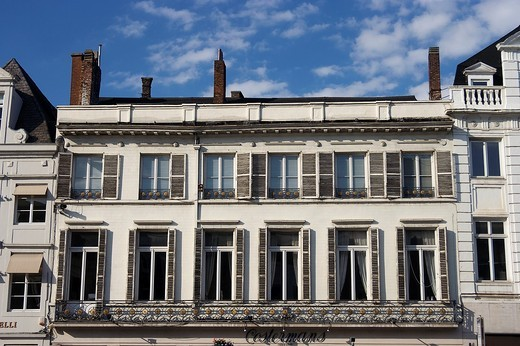 Windows, Brussels, Belgium : Stock Photo