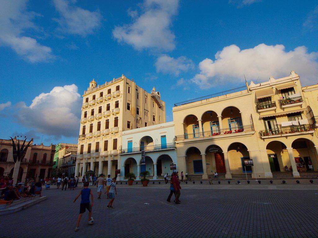 Stock Photo: 1566-918347 Gomez Vila building  Old Square  Old Havana  Cuba