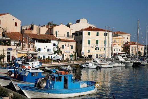 Stock Photo: 1566-918694 Cala Gavetta harbour, La Maddalena, Sardinia, Italy