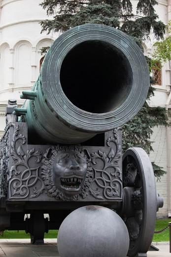 Russia, Moscow Oblast, Moscow, Kremlin, Tsar Cannon : Stock Photo