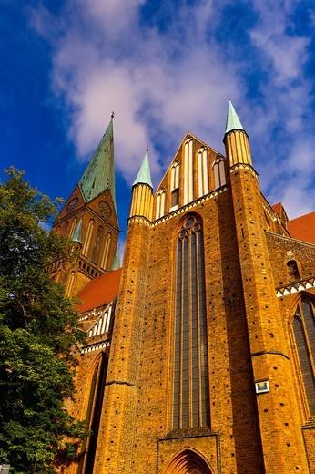 Cathedral Dom, Schwerin, Mecklenburg-West Pomerania, Germany : Stock Photo