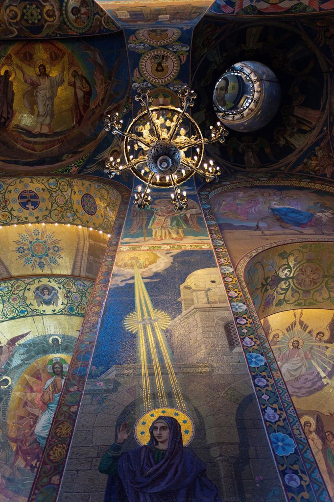 Stock Photo: 1566-920037 Russia, Saint Petersburg, Center, Church of the Saviour of Spilled Blood, interior glass mosaics