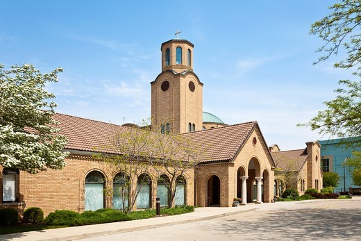 The Annunciation - Greek Orthodox Cathedral in Columbus, Ohio : Stock Photo