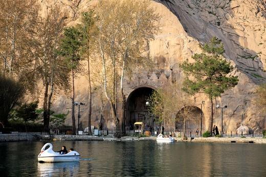 Taq-e Bostan, province Kermanshah, Iran : Stock Photo