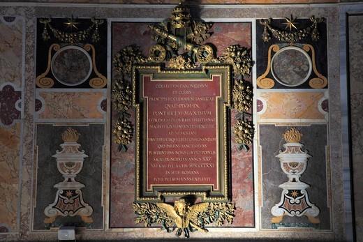Italy, Lazio, Rome, Basilica San Giovanni in Laterano, interior, : Stock Photo
