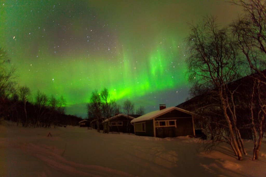 Stock Photo: 1566-923563 Northern light in FInland