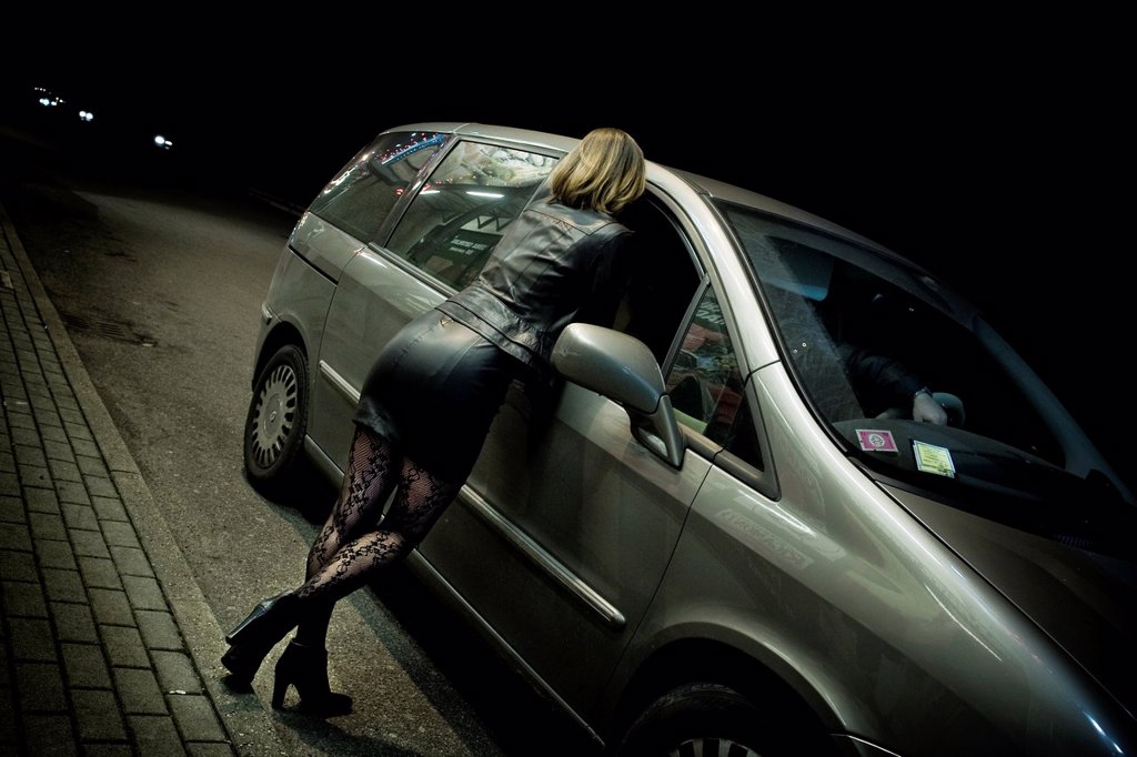 Stock Photo: 1566-923593 Approach with a client, Prostitution, Milan province, Italy