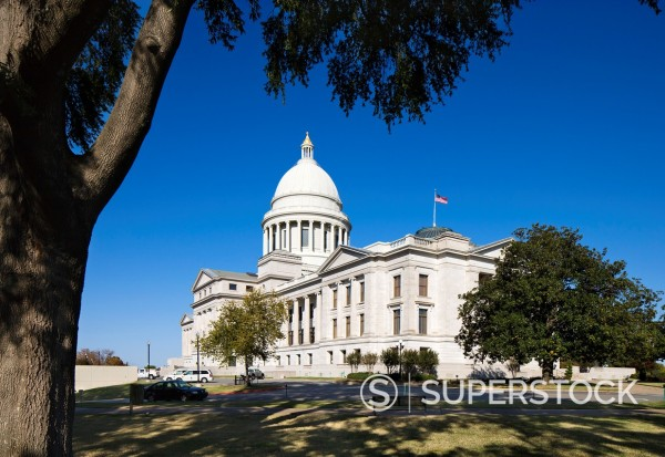 Stock Photo: 1566-923854 The Arkansas State Capitol Building, Little Rock, Arkansas, USA