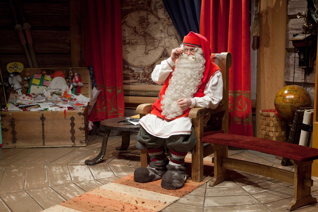 Stock Photo: 1566-924142 Santa claus office in North Finland