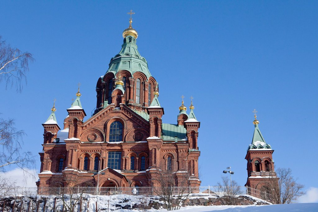 Uspenski cathedral in Helsinki : Stock Photo