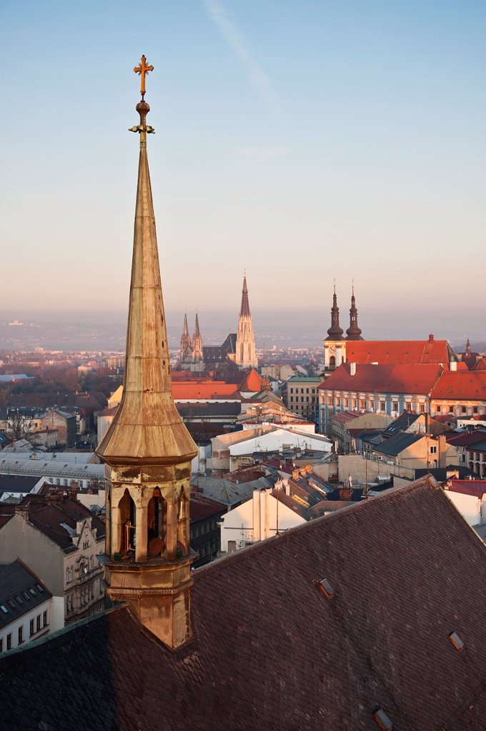 Rooftop view from St  Maurice chuch, Olomouc, Czech Republic : Stock Photo