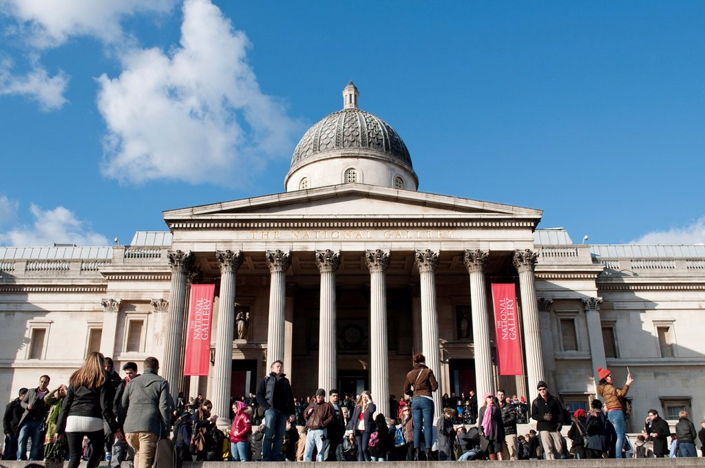 Stock Photo: 1566-924714 National Gallery, London, UK