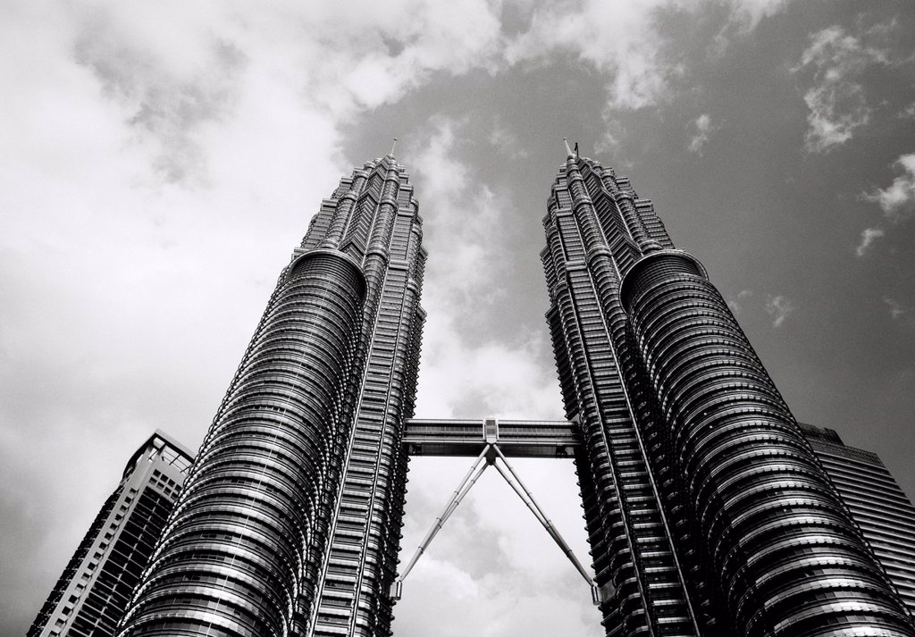 Stock Photo: 1566-925547 The Petronas Towers Skybridge in Kuala Lumpur, Malaysia