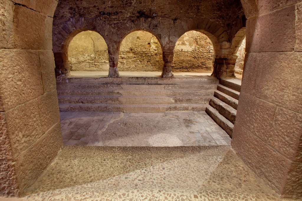 Stock Photo: 1566-925571 Roman thermal baths in Caldes de Montbui, Barcelona, Spain