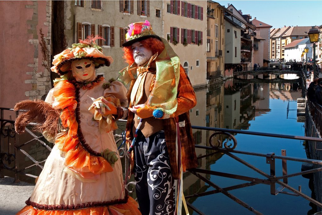 Stock Photo: 1566-925744 Carnival Venetian 2012 in Annecy, Haute Savoie, France, Europe