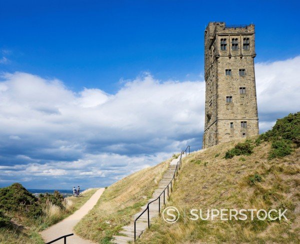 Stock Photo: 1566-926414 Victoria Tower on Castle Hill in Huddersfield, West Yorkshire, England