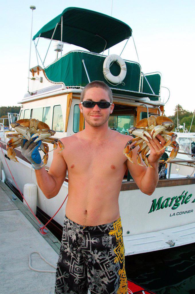 Stock Photo: 1566-927039 Dungeness Crabs, Friday Harbor, San Juan Islands, Washington State, USA