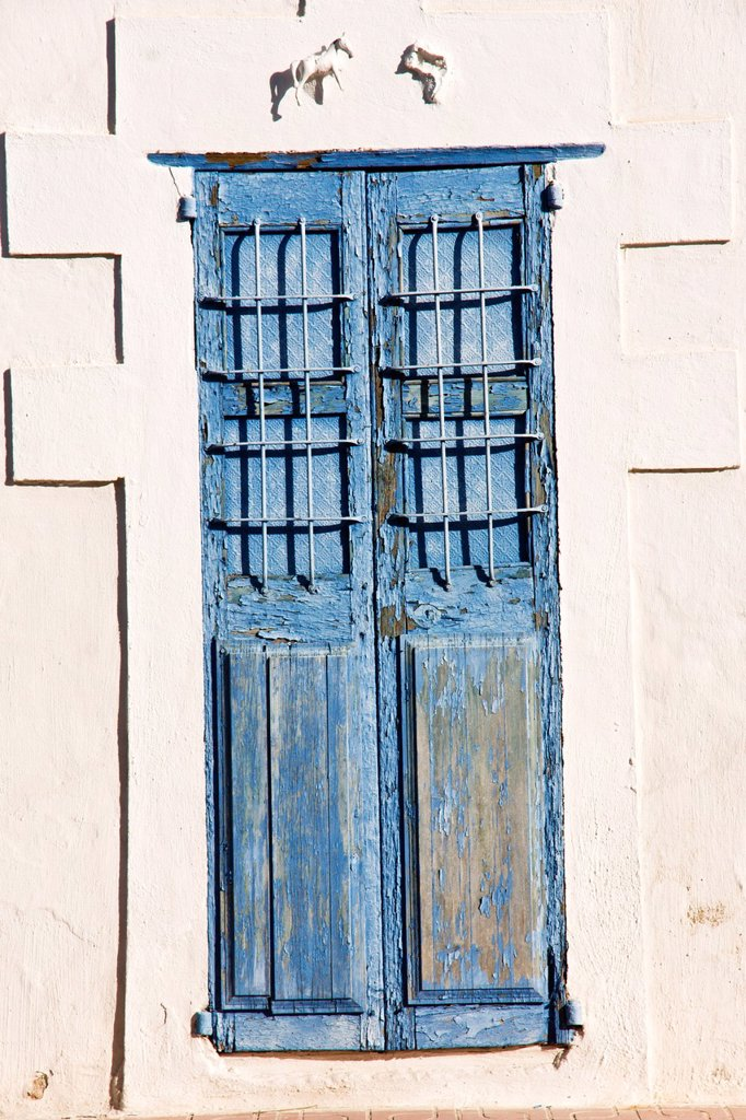 Stock Photo: 1566-927955 Blue Door, Sant Rafel de Forca.Ibiza. Balearic islands Spain