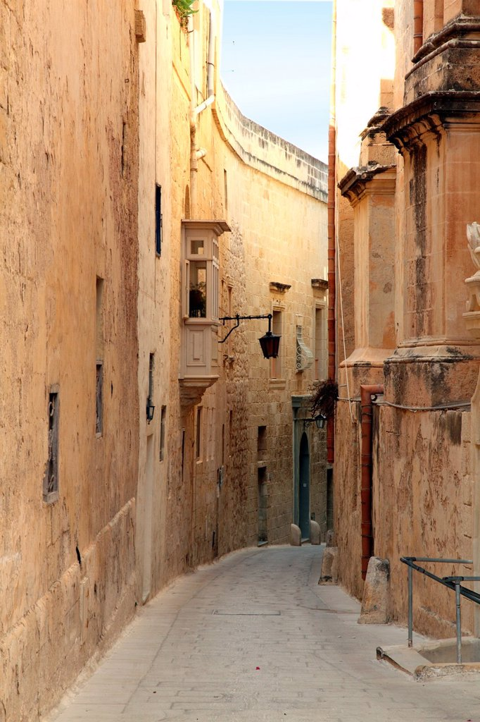 Malta, Mdina, alley, Carmer streets : Stock Photo