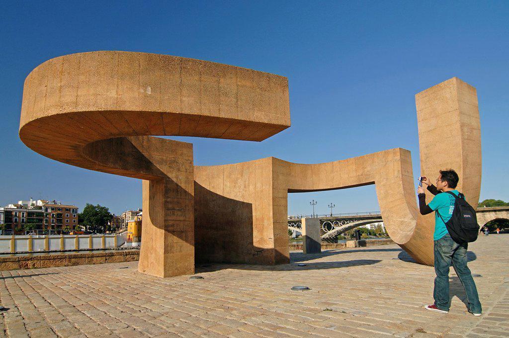 Monument to tolerance and tourist  Sevilla  Spain : Stock Photo