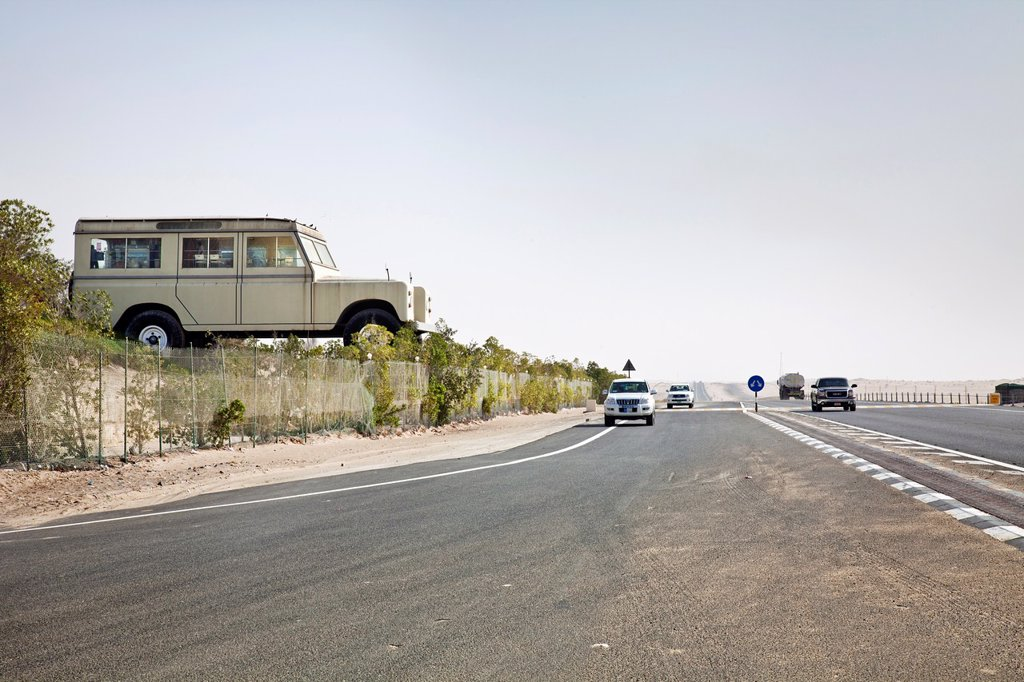 Stock Photo: 1566-928411 Emirates National Auto Museum, Road to Liwa Oasis, Abu Dhabi, United Arab Emirates, Middle East