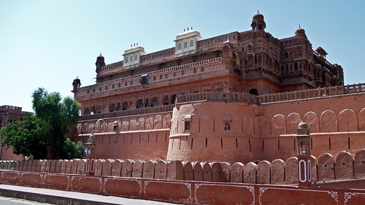 Stock Photo: 1566-929813 Junagarh Fort Bikaner Rajasthan India