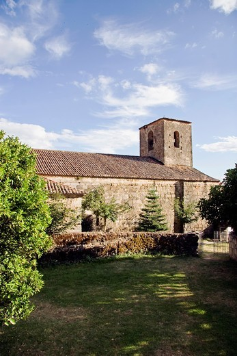 Stock Photo: 1566-930328 Church of Santa María de Fuentes Claras, Valverde de la Vera  Cáceres province, Extremadura