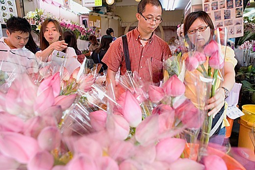 Flower Market, at Flower Market Road  Mong Kok Kowloon,Hong Kong, China : Stock Photo