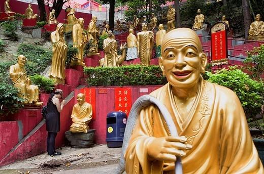 Stock Photo: 1566-930393 Temple of Ten Thousand Buddhas  Sha Tin  New territories,Hong Kong, China
