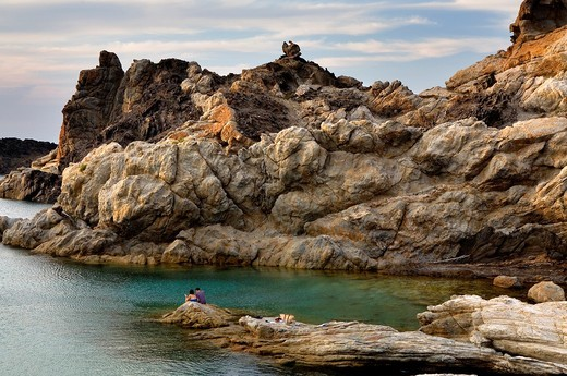 Stock Photo: 1566-930401 Culleró cove  Cap de Creus Natural Park  Landscape that inspired some of Dalí´s paintings Costa Brava  Girona province  Catalonia  Spain