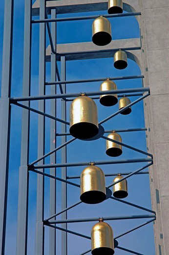 Stock Photo: 1566-930580 Bells of Crystal Cathedral, California, United States