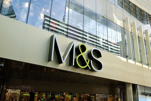 Stock Photo: 1566-930981 Marks & Spencer at Westfield Stratford City, London, England
