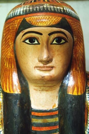 Egypt, Cairo, Egyptian Museum, sarcophagus, : Stock Photo