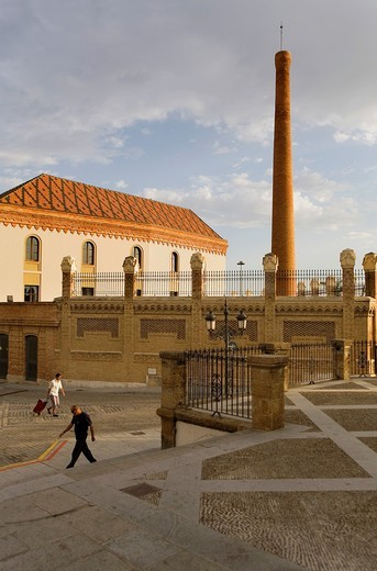 Stock Photo: 1566-931796 Old factory of tobacco  Today is a Conference hall  In Cuesta de las Calesas street Cádiz, Andalusia, Spain